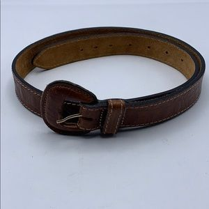 Echo Women Brown Leather Belt Size L 38.5""
